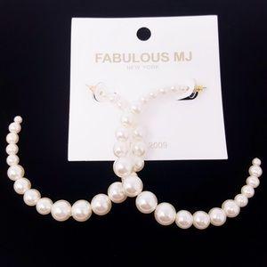 Jewelry - Pearl Hoop Earrings